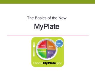 The Basics of the New  MyPlate