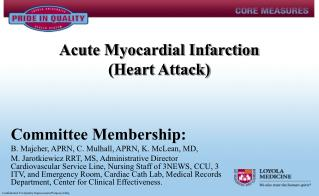 Acute Myocardial Infarction (Heart Attack)
