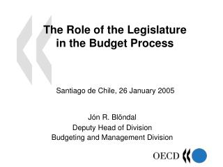 The Role of the Legislature in the Budget Process