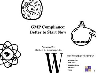 GMP Compliance: Better to Start Now