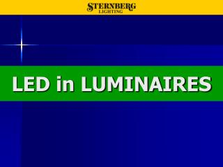 LED in LUMINAIRES