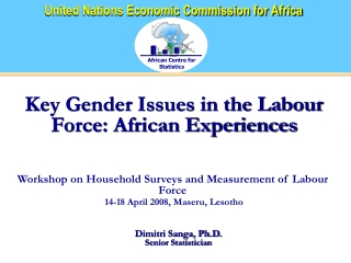Key Gender Issues in the Labour Force: African Experiences