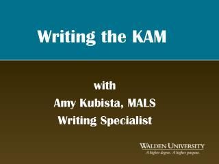 Writing the KAM