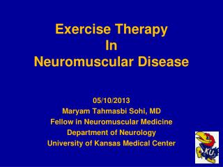 Exercise Therapy In Neuromuscular Disease