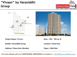Vivaan, a residential project by Varasiddhi Group at Thane E