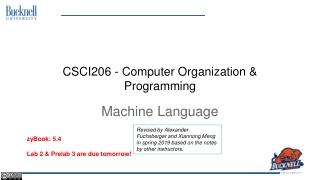 CSCI206 - Computer Organization & Programming