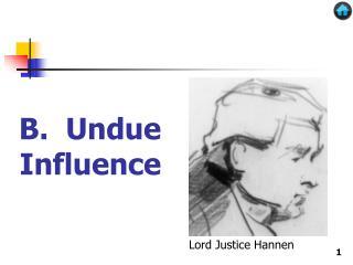 B. Undue Influence
