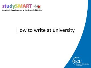 How to write at university