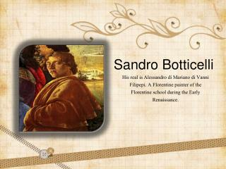 great works of sandro botticelli
