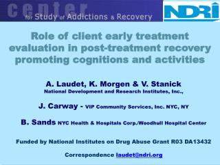 Role of client early treatment evaluation in post-treatment recovery promoting cognitions and activities