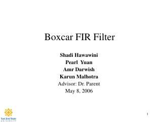 Boxcar FIR Filter