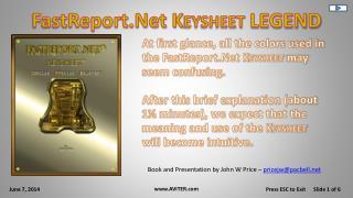FastReport.Net K eysheet LEGEND