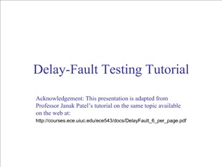 delay-fault testing tutorial