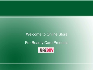 Health and Beauty Products Online