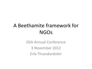 A Beethamite framework for NGOs