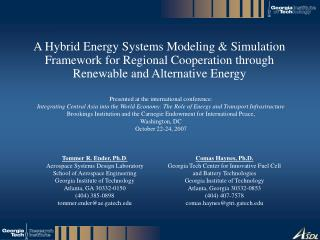 A Hybrid Energy Systems Modeling  Simulation Framework for Regional Cooperation through Renewable and Alternative Energy
