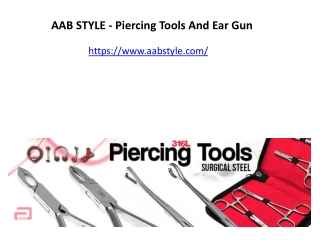 AAB STYLE - Piercing Tools And Ear Gun
