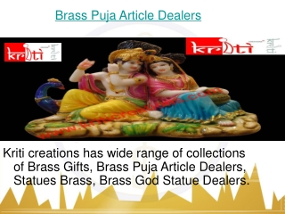 Brass Puja Article Dealers