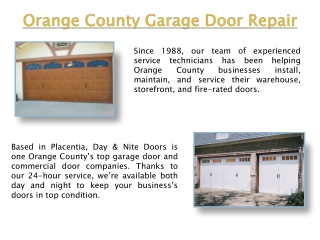 Placentia Garage Door Repair