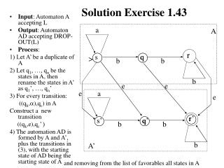 Solution Exercise 1.43