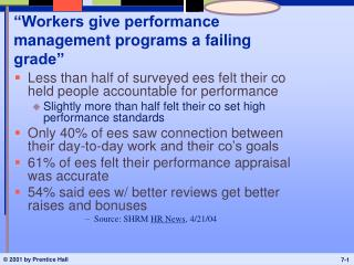 """Workers give performance management programs a failing grade"""