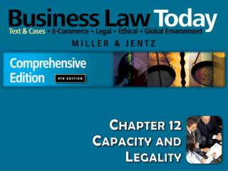 Chapter 12 Capacity and  Legality