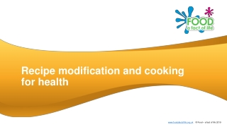 Recipe modification and cooking for health