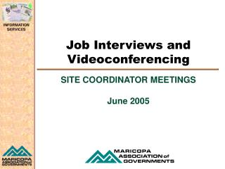 Job Interviews and Videoconferencing