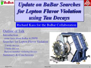 Update on BaBar Searches for Lepton Flavor Violation using Tau Decays