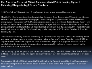 pan american metals of miami announces gold prices leaping u