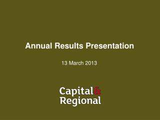 Annual Results Presentation