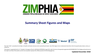 Summary Sheet Figures and Maps