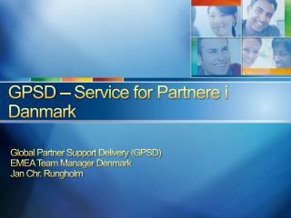 GPSD – Service for Partnere i Danmark