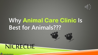 Why Animal Care Clinic is best place for your pets