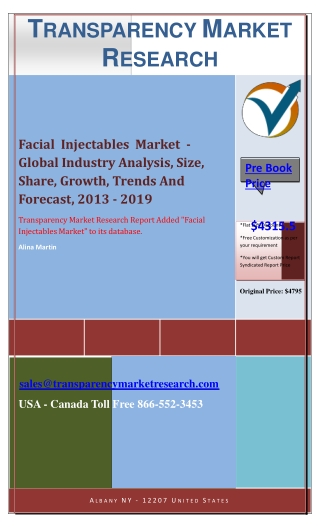 Facial Injectables Market - Industry Size, Share, Growth, Tr
