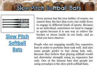 Softball Bat Reviews