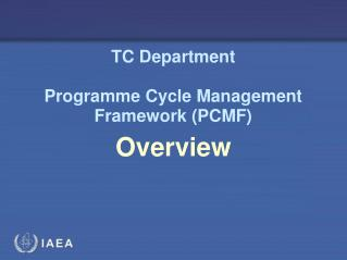 TC Department Programme Cycle Management Framework (PCMF)