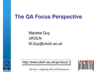 The QA Focus Perspective