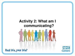 Activity 2: What am I communicating?