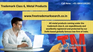 Trademark Class 6 | Metal Products