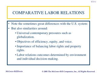 COMPARATIVE LABOR RELATIONS