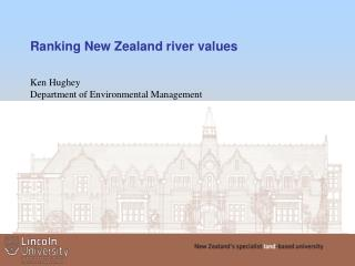 Ranking New Zealand river values