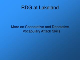 RDG at Lakeland