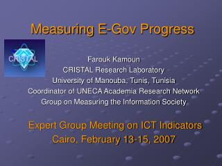 Measuring E-Gov Progress