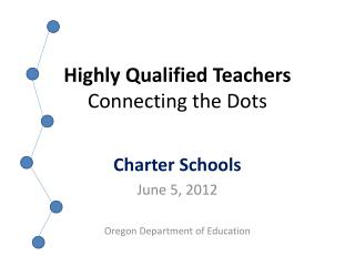 Highly Qualified Teachers Connecting the Dots