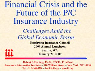 Financial Crisis and the Future of the P/C    Insurance Industry  Challenges Amid the Global Economic Storm