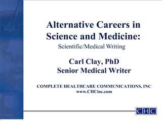 alternative careers in science and medicine: