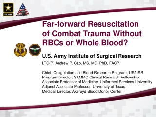 U.S. Army Institute of Surgical Research