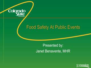 Food Safety At Public Events