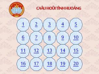 CAÂU HOÛI TÌNH HUOÁNG
